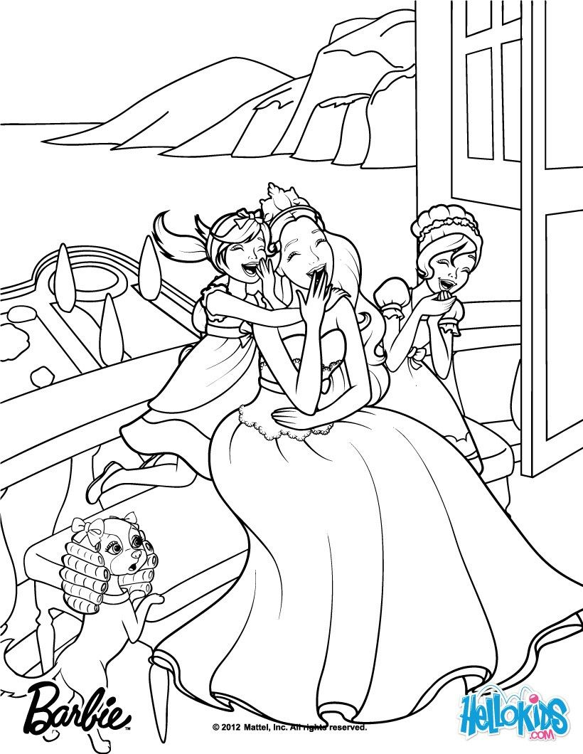 Meribella Trevi Are Toris Sisters Barbie Coloring Page More The Princess