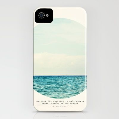 """""""the cure for anything is salt water. sweat, tears, or the ocean."""" iphone cover"""