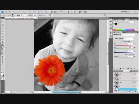 Black And White Picture Editing With One Color
