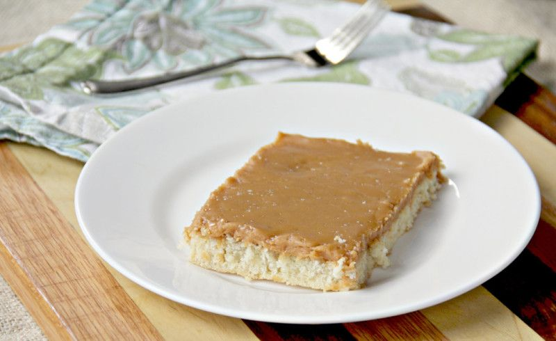 Salted Caramel Sheet Cake   http://inasouthernkitchen.com/salted-caramel-sheet-cake/