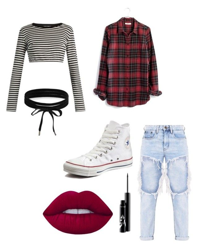 """aesthetic"" by motelmoney ❤ liked on Polyvore featuring Dolce&Gabbana, Madewell, Converse, Boohoo and Lime Crime"