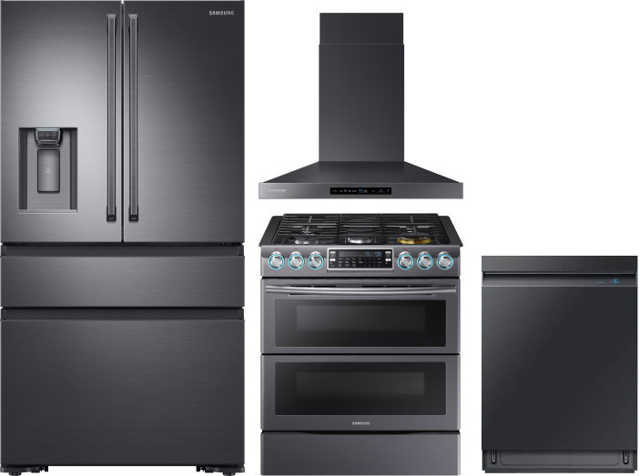 Samsung 4 Piece Kitchen Appliances Package With French Door