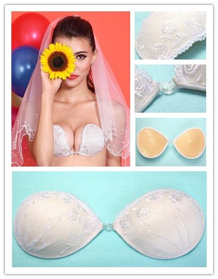 db33d498b0f54 White Lace Invisible Strapless Bra For Wedding Dress Silicone Bra Backless  Free Bra Push Up Nipple Sutian Women Sexy Underwear