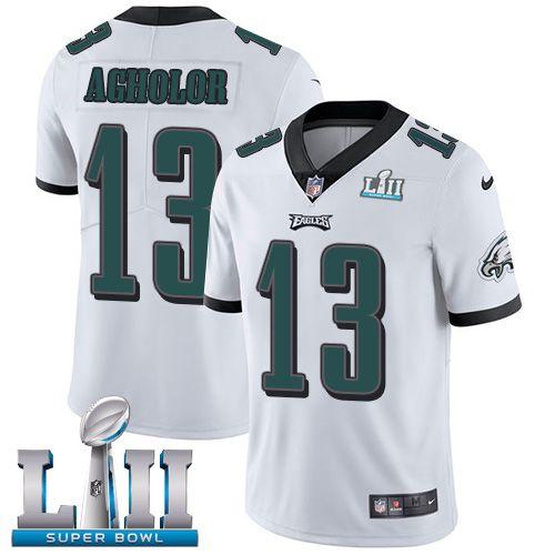Men's Nike Philadelphia Eagles #17 Alshon Jeffery White Super Bowl LII Vapor Untouchable Limited Jersey
