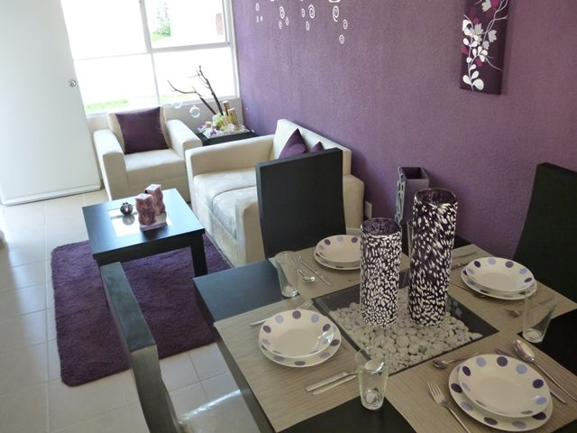 Decoraci n sala comedor peque a morada hogar pinterest for Ver decoraciones de casas
