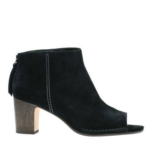 8df07195d8dc Spiced Melody Black Suede - Women s Booties   Ankle Boots - Clarks® Shoes  Official Site