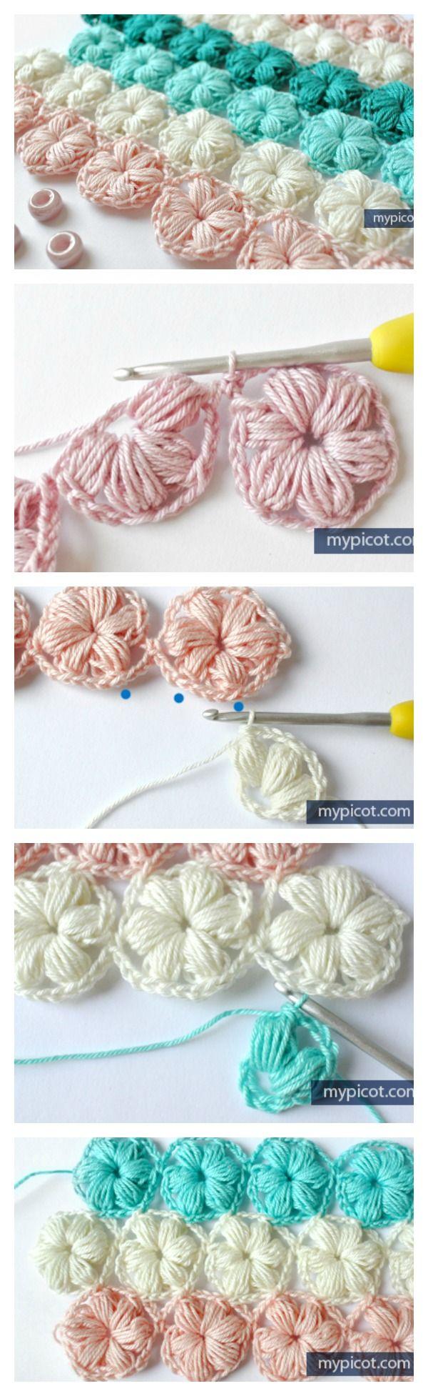 Beautiful Puff Stitch Patterns I Can't Wait To Try