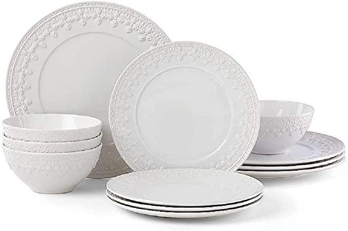 Amazon Com Lenox 885671 White Chelse Muse Fleur Dinner Plate 1 65 Lb Kitchen Dining In 2020 Ceramic Dinnerware Set Dinnerware Set Dinnerware