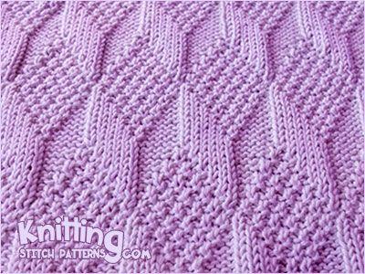Reversible Knitting * - Moss Diamond and Lozenge stich. Knitting ...