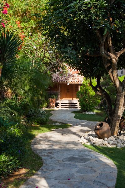 Tropical garden design at villa Mimine by Bali Landscape Company - Garden Design Company