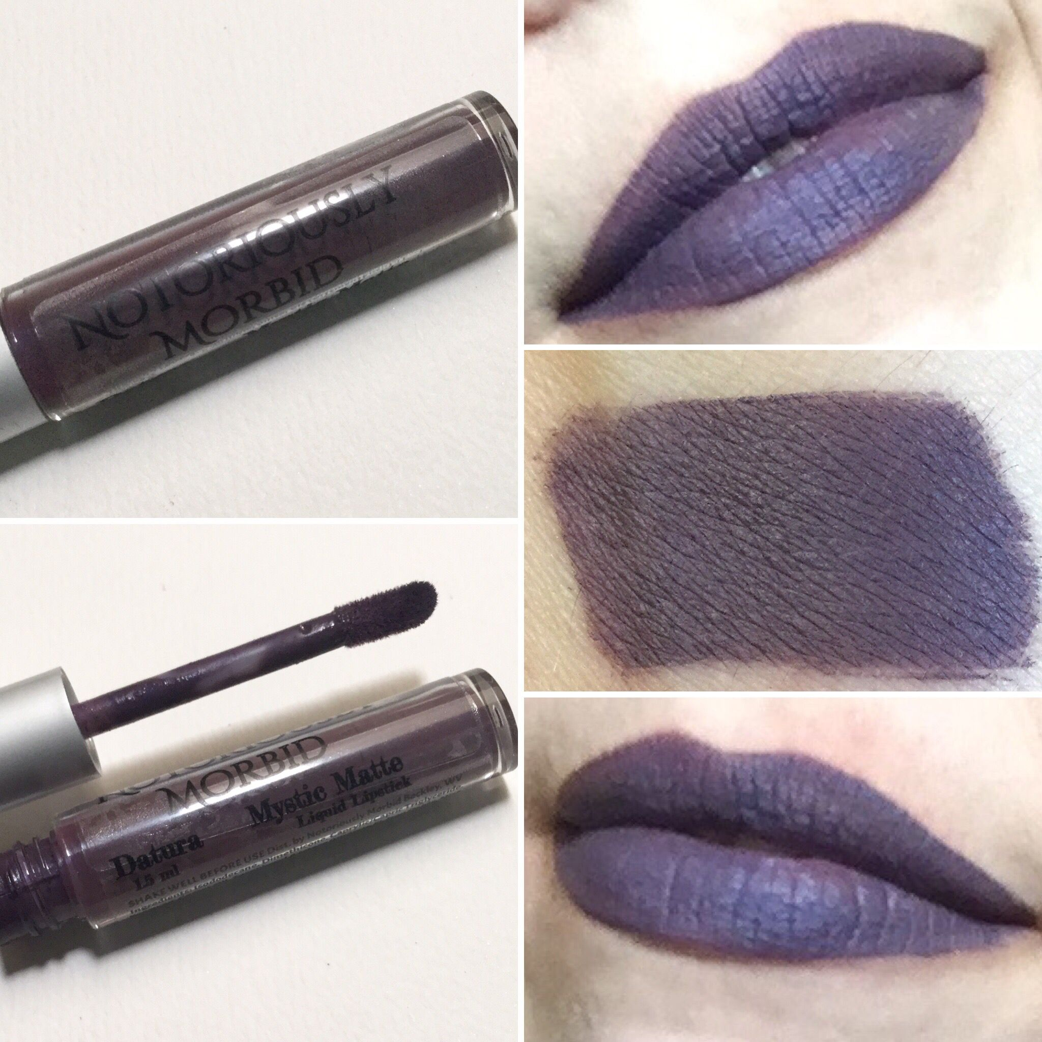 Notoriously Morbid Mystic Matte Datura. Deep muted purple lipstick ...