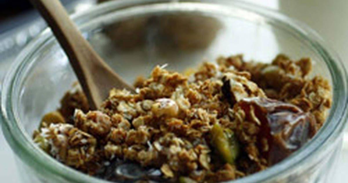 طريقة عمل الجرانولا بالصور من جمانة عقاد Recipe Food Breakfast Cereal