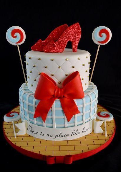 Peachy Wizard Of Oz Cake With Ruby Sl 18Th Funny Birthday Cards Online Bapapcheapnameinfo