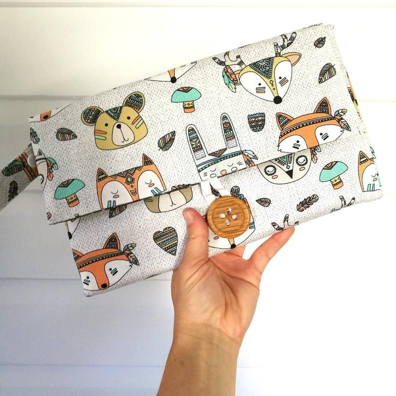 nappy wallet and pacifier strap  diaper wallet  nappy clutch  diaper clutch with waterproof change mat-nappy bag
