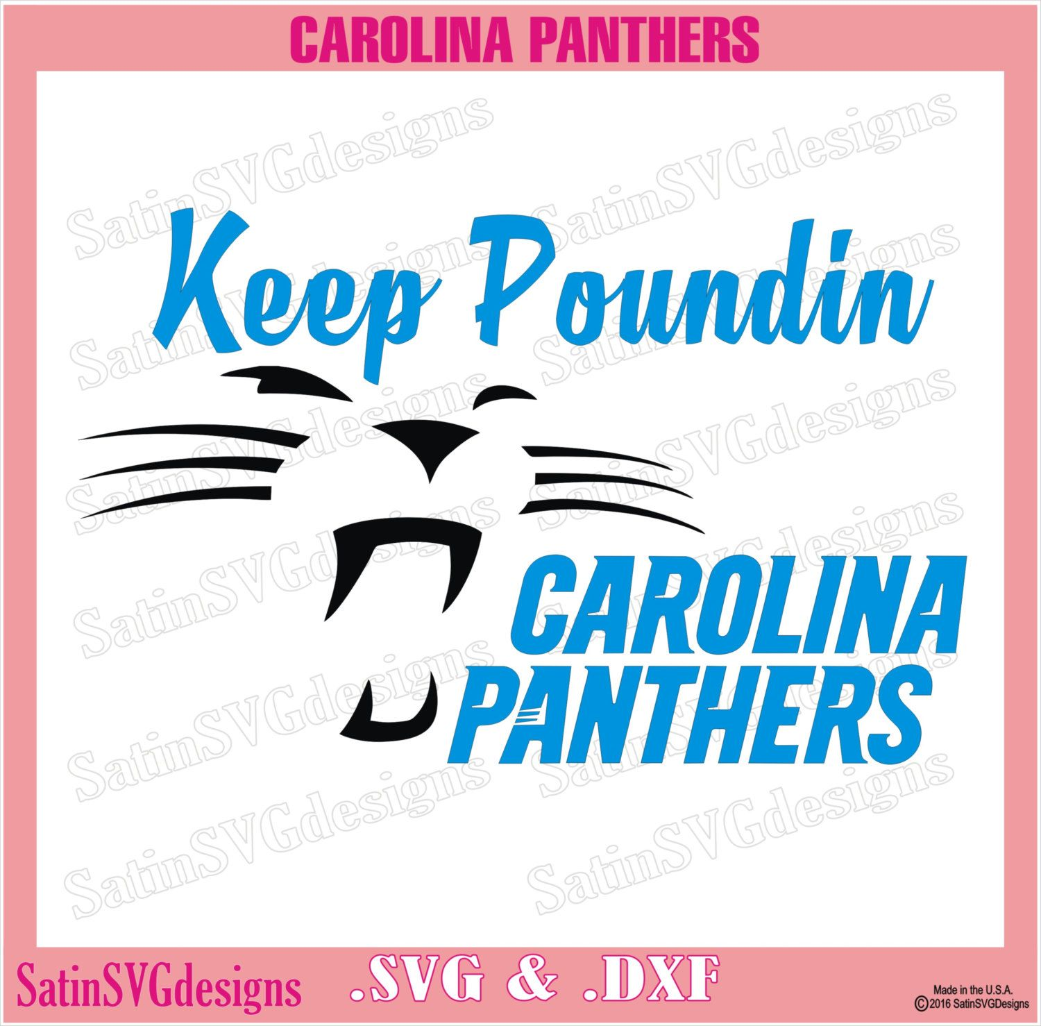 Carolina Panthers Keep Poundin Design With Your Silhouette