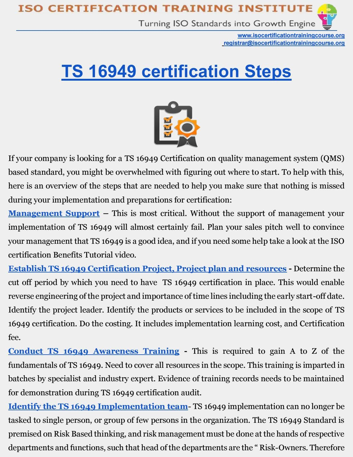 Ts 16949 Certification With Images Energy Management Safety