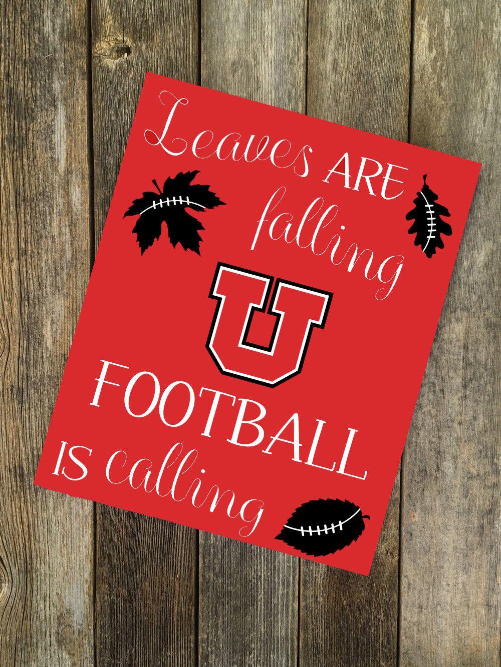 Fall Decor Fall Sign Football Utes Utah Utes Utah Utes Home Decor Utes Football University Utah Utes Football Utes Football University Of Utah Football