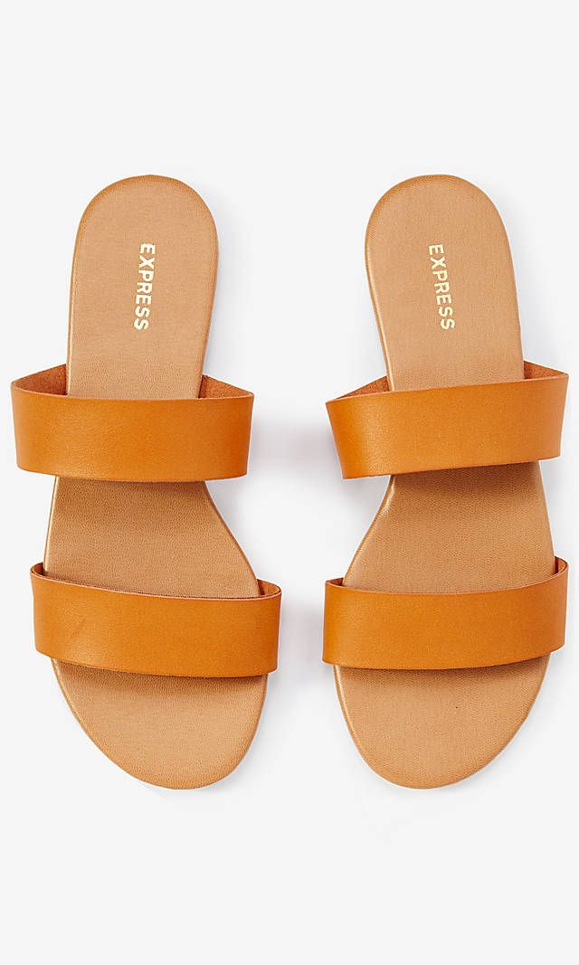 8320137119dd Two Strap Slide Sandals from EXPRESS
