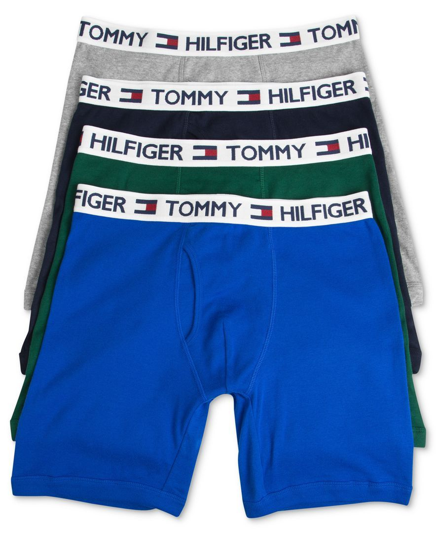 Tommy Hilfiger Men's Underwear, Cotton Boxer Brief 4-Pack - Underwear &  Undershirts - Men - Macy's