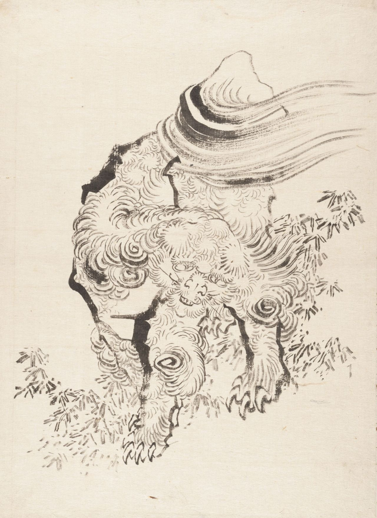Chinese Lion Foo Dog Prints Chines Lions Are My Favorite Motifs In Japanese Tattoos The Color Print Is By Kuniyoshi And Rest Hokusai