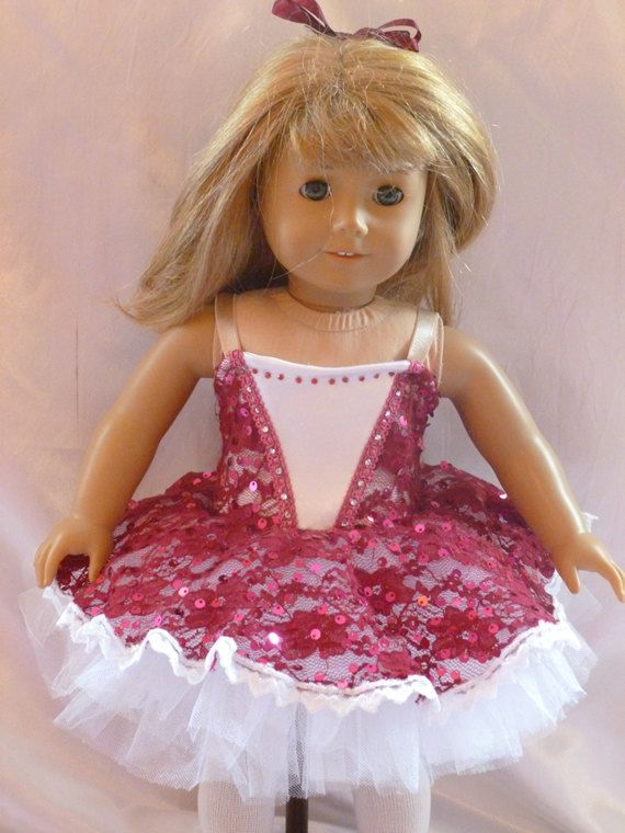 Cranberry Lace 18 inch doll Ballet Costume B84 | Paisley..... these ...