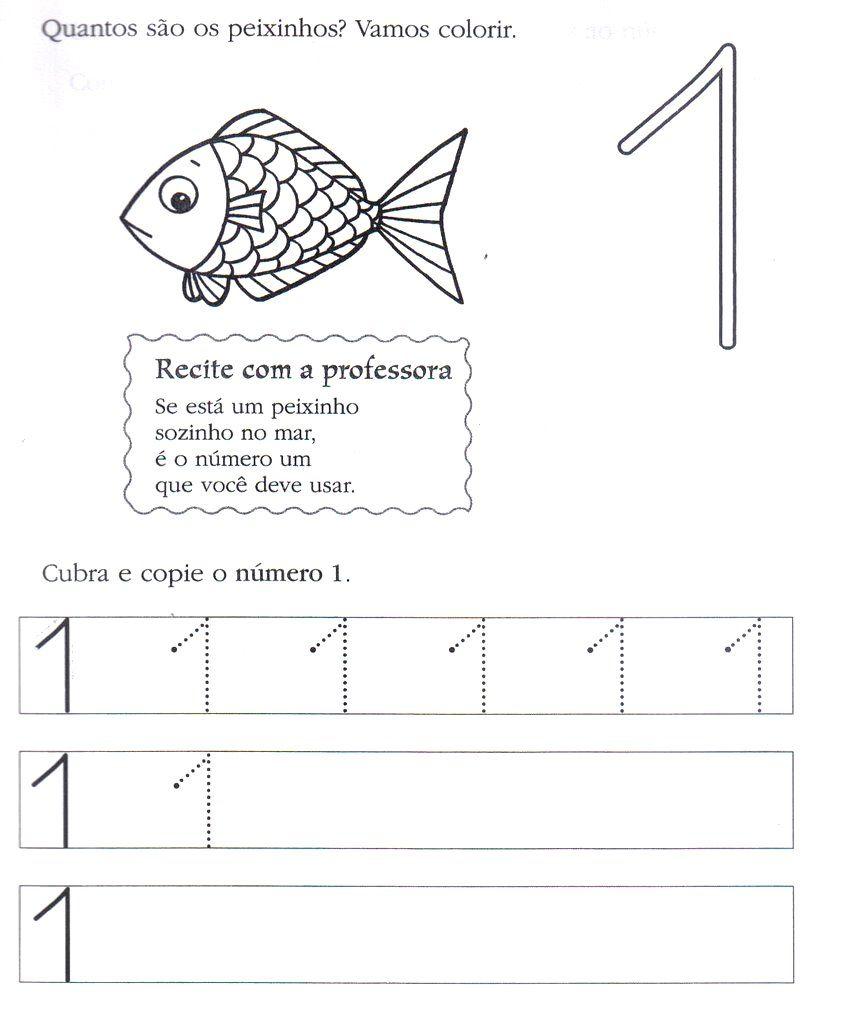 Atividades Com Numero 1 Para Educacao Infantil Atividades