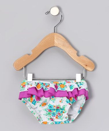 Take a look at this Violet Floral Lulu Swim Diaper - Infant & Toddler by Blow-Out: Girls' Apparel on #zulily today!