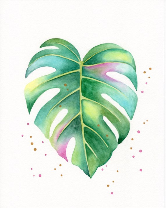 Watercolor Leaf On Behance Behance Ilustration Leaf
