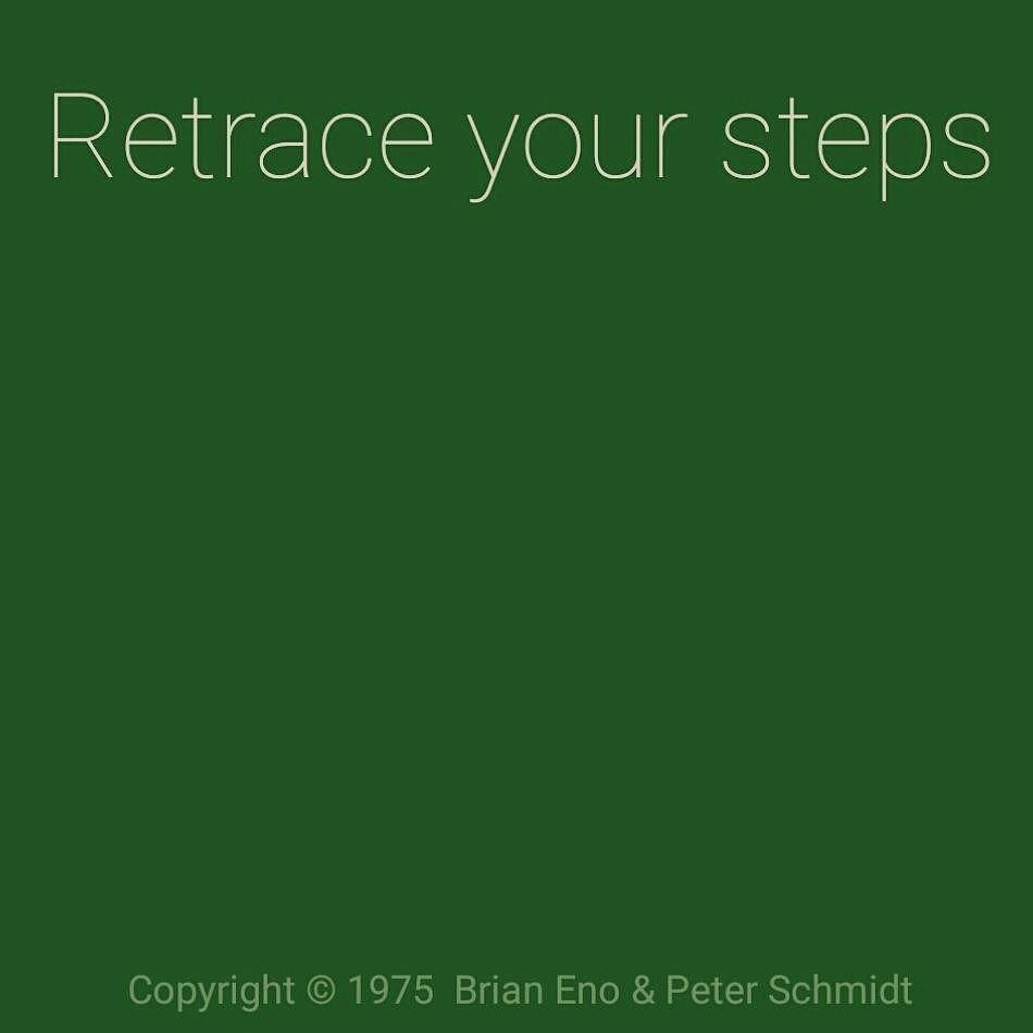 #steps #eno #obliquestrategies