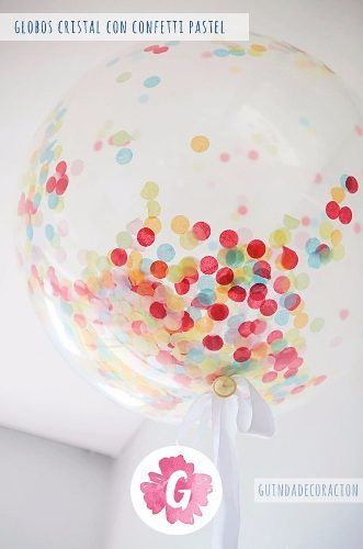 Globos Transparente Cristal C Confetti Personalizado Helio 450 00 Como Decorar Con Globos Globos Transparentes Globo Transparente Con Confeti