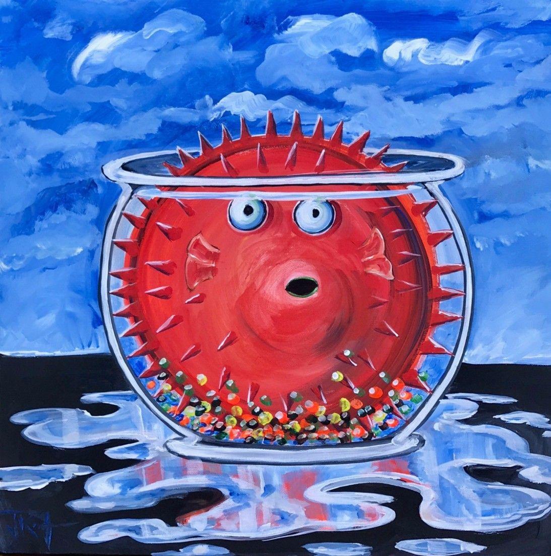 Jim Keifer - Puffer Fish Problem #artwork #fish #originalart ...