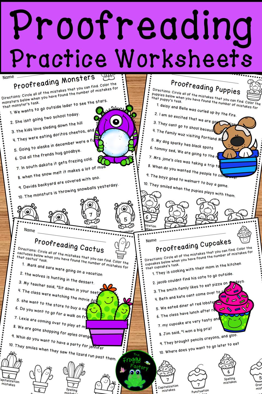 medium resolution of Proofreading Practice Worksheets   Elementary writing