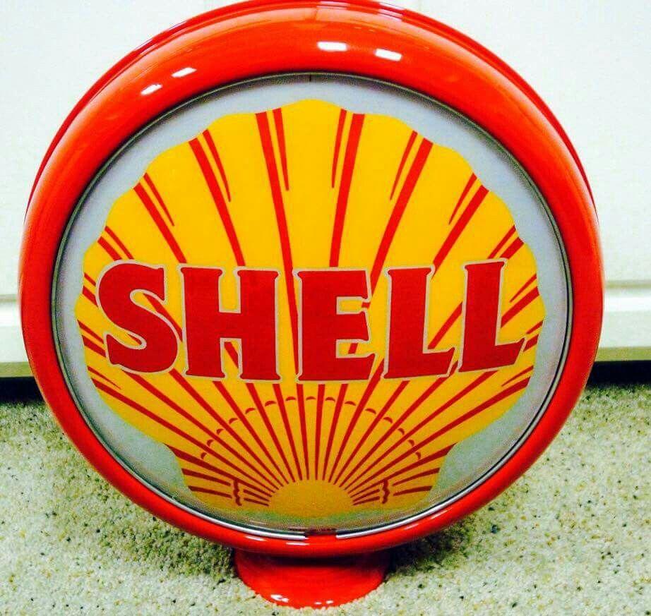 """Rare Original """"West Coast"""" Shell Gas Globe"""