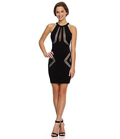 e7b6ffe5a92 Honey And Rosie CutOut Mesh Dress  Dillards. I found my dress for the  wedding....going black this time. So cute!