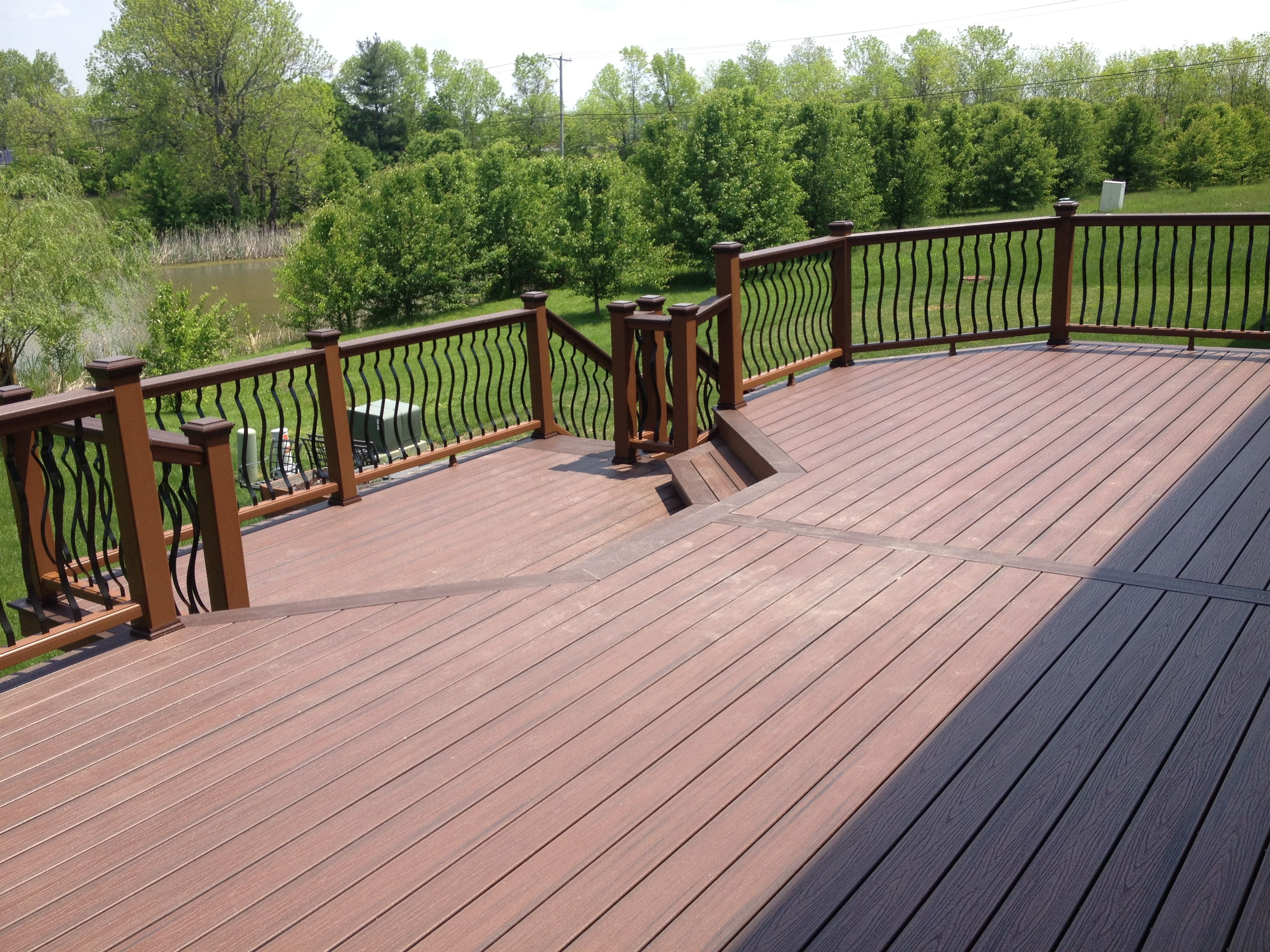 This Is A Great Size For A Deck The Two 16 Foot Areas Are Divided By A Breaker Board To Minimize Waste And Keep From Havin Pergola Cost Decks Backyard Pergola