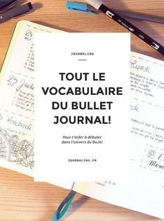 Vocabulaire Bullet Journal