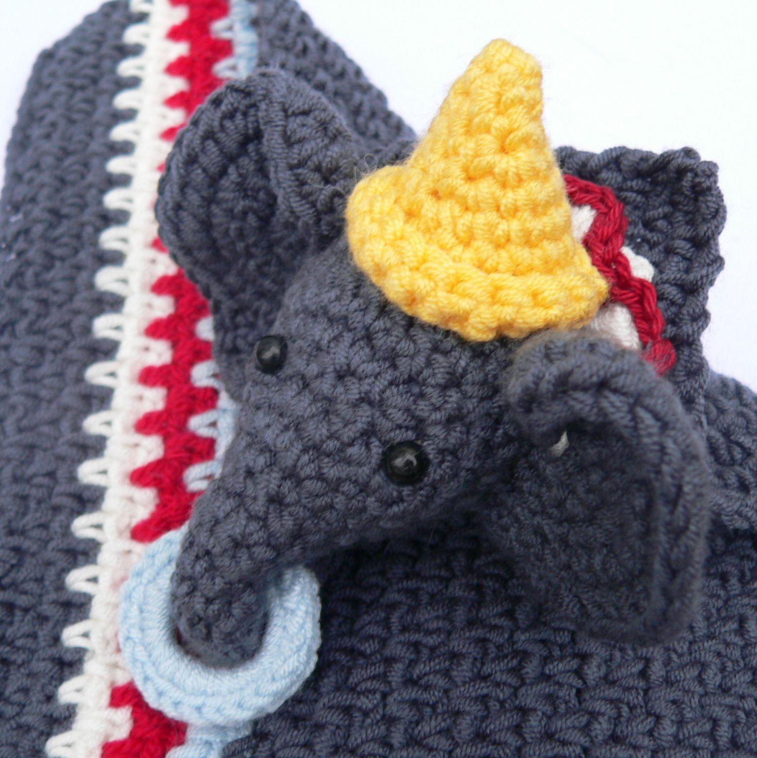 Circus Elephant Lovie A Dribs and Drabs Design free crochet patterns ...