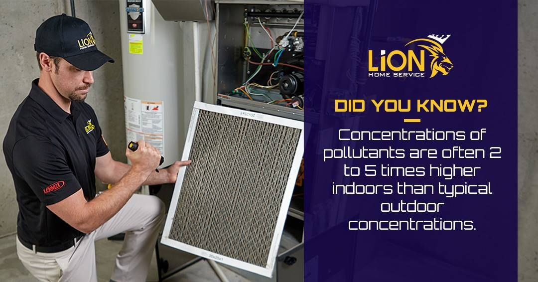 Concentrations Of Pollutants Are Often 2 To 5 Times Higher Indoors
