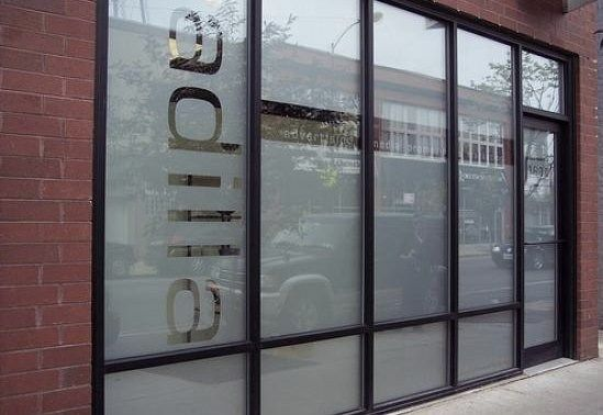 Custom Etched Store Front Glass Signage Glass Store