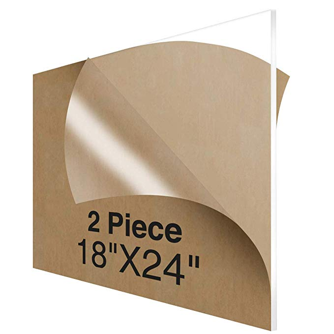 Amazon Com Niubee Acrylic Plexiglass Sheet 18x24 Inches 2 Piece 1 8 Inch Thick Clear Plastic Perspex Plate Panel Offic In 2020 Plexiglass Sheets Perspex Plexiglass