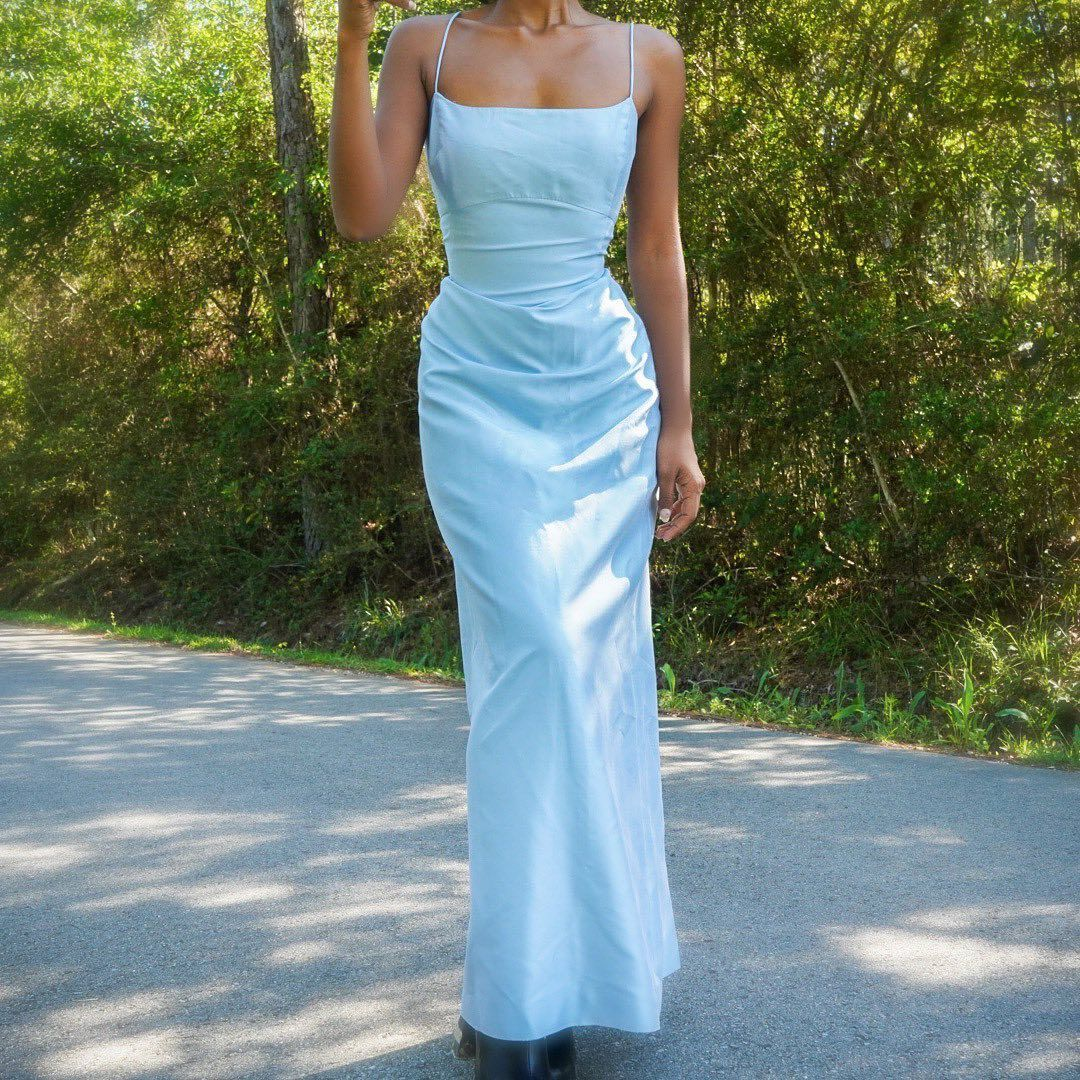 Masha Jlynn On Instagram Vintage 90s Blue Silk Gown Fully Lined And Non Stretch Gently Used Vintage Blue Dress Formal Prom Dresses Blue Fancy Dresses [ 1080 x 1080 Pixel ]