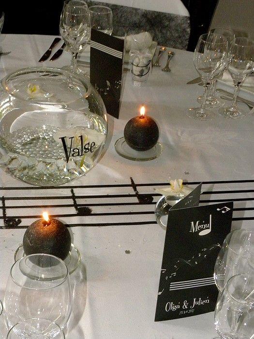theme musique mariage o j saison 2013 centre de table. Black Bedroom Furniture Sets. Home Design Ideas