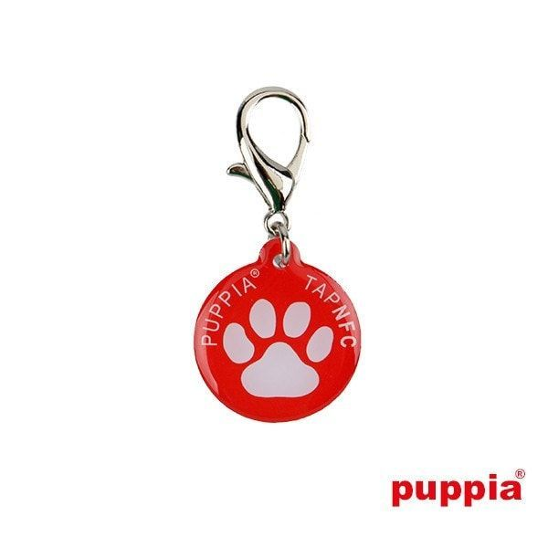 Paw Smart Tag Pet ID Tag by Puppia - Red