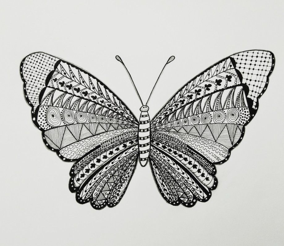 Zentangle Mandala Butterfly Design Visit Our Youtube Channel For Full Video Butterfly Mandala Butterfly Drawing Mandala Art
