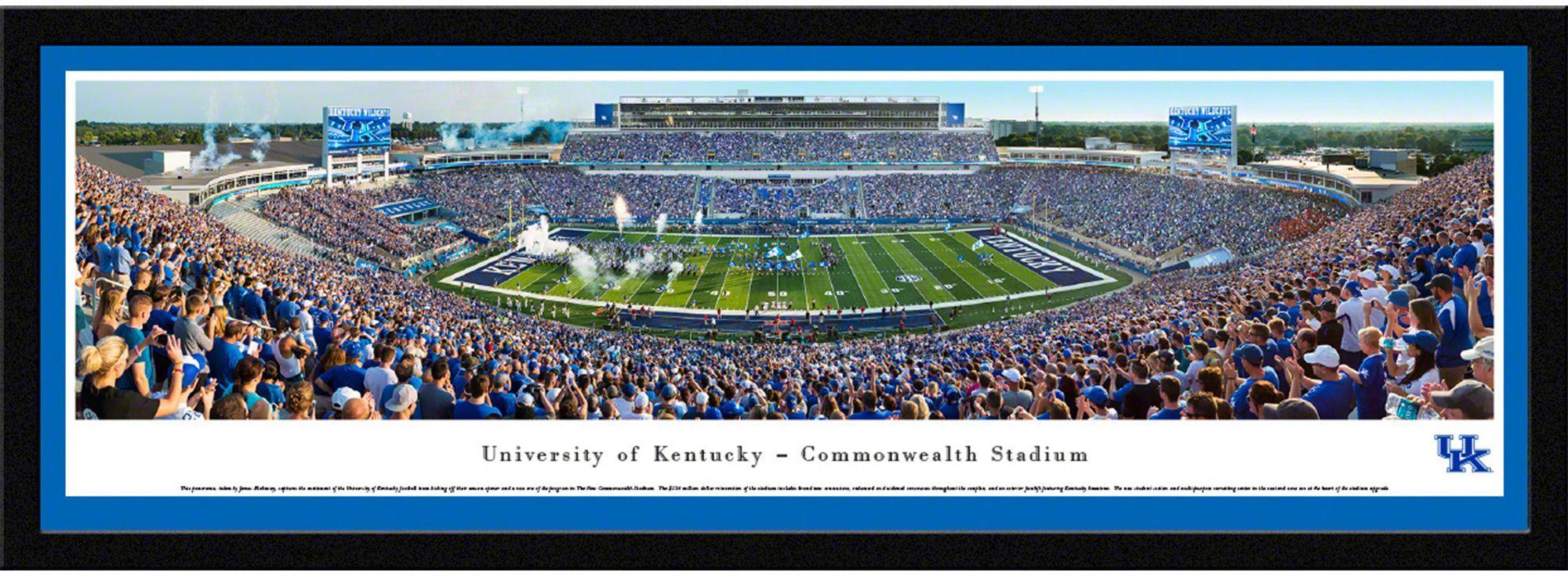 Blakeway Panoramas Kentucky Wildcats Framed Panorama Poster Kentucky Wildcats Football University Of Kentucky University Of Kentucky Football