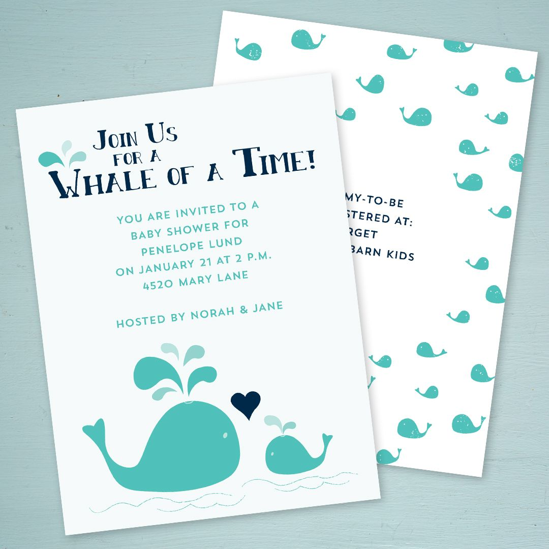 Spouting love baby shower invitation pinterest shower a whale themed baby shower invitation filmwisefo