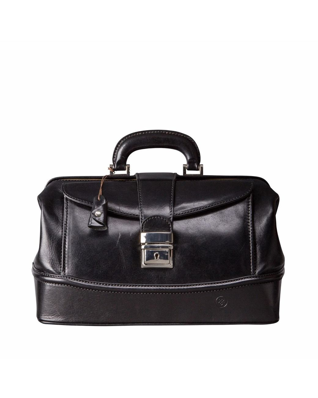 b35da04b6285 Men s The Donnini S Small Luxury Leather Doctors Bag Black ...