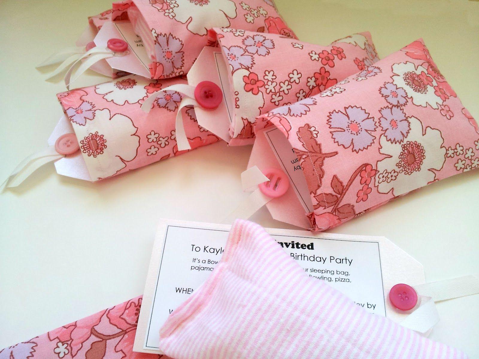 The Vintage Sheet Blog: Slumber Party Invitations | crafts ...