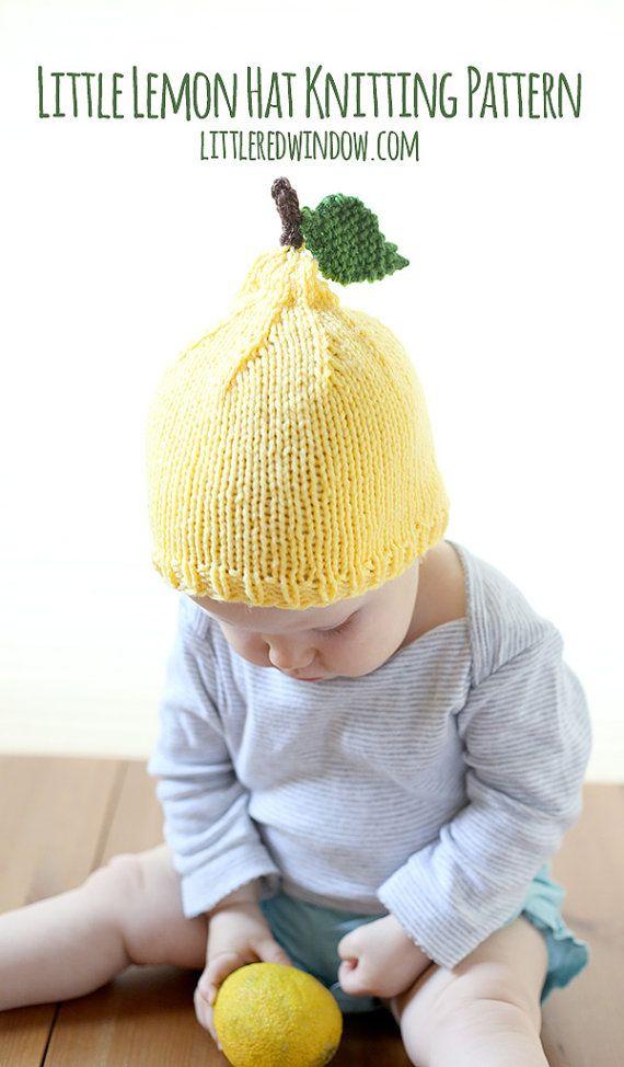Lemon Baby Hat KNITTING PATTERN / Knit Lemon Hat / Summer Knit Hat ...