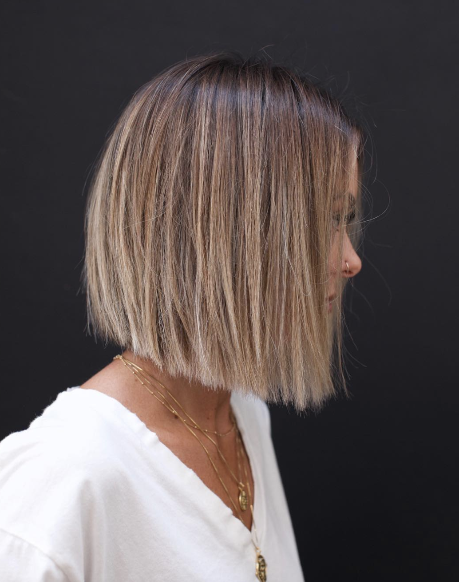 Soft Blunt Bob Hairstyles For Fine Hair Thick Hair Styles Short Hair Haircuts